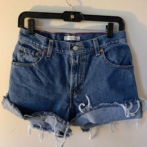 Vintage Levi's Women's 550 High Waisted Shorts